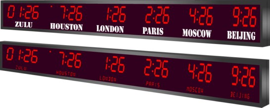 LED digital clock Master Slave clock Digital Timer Multizone